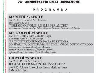 25 Aprile 2019 anniversario Liberazione