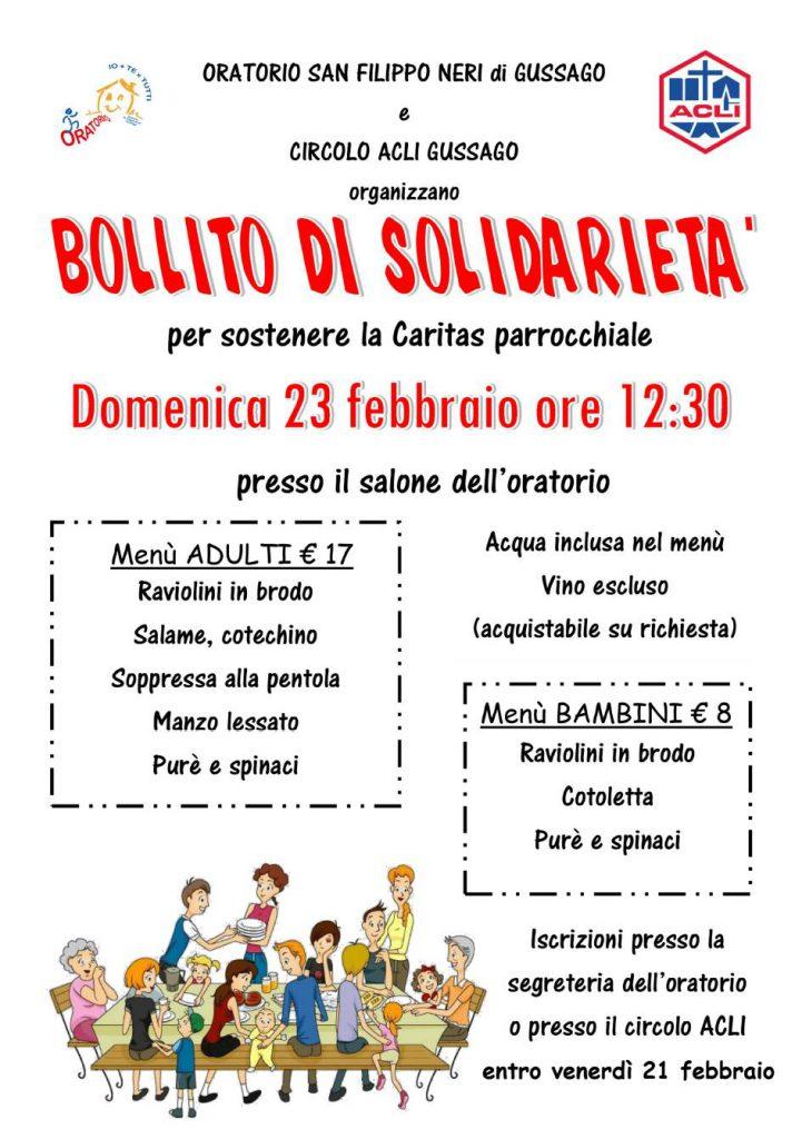 Bollito di solidarietà febbraio 2020